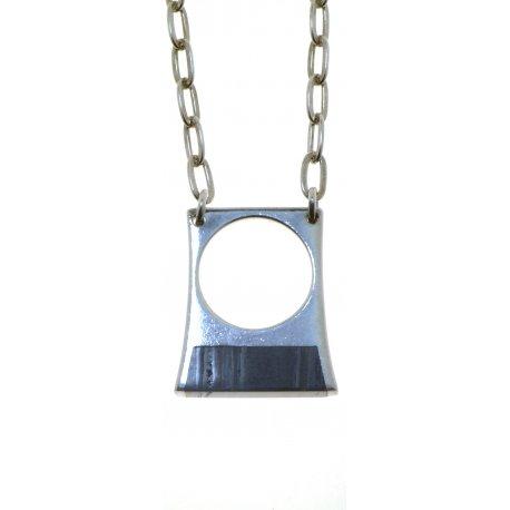 Колье женское серебряное 925* родий тигровый глаз Арт 12 2 4088