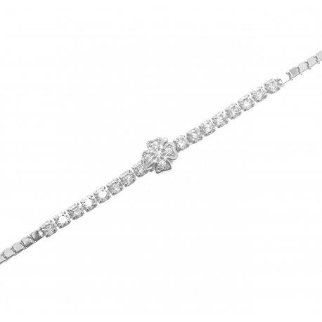 Браслет женский серебряный 925* родий цирконий Арт 145 099