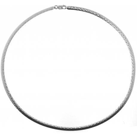 Колье женское серебряное 925* родий Арт 220 006