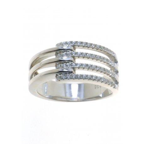 Каблучка жіноча срібна 925* родій цирконій Арт 155 396