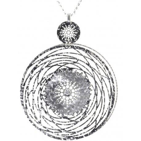 Колье женское серебряное 925* родий цирконий Арт 220 073