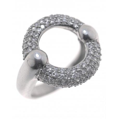 Кольцо женское серебряное 925* родий цирконий Арт 15 1615
