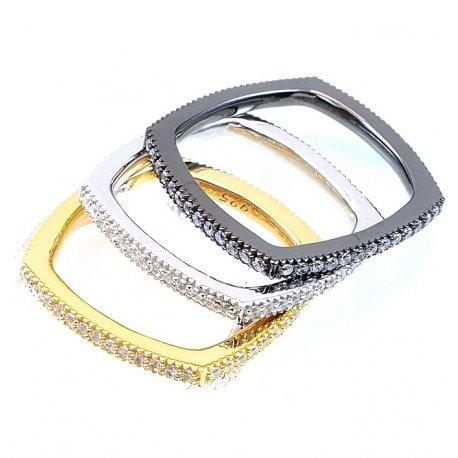 Кольцо женское серебряное 925* родий цирконий Арт 15 7 0967б