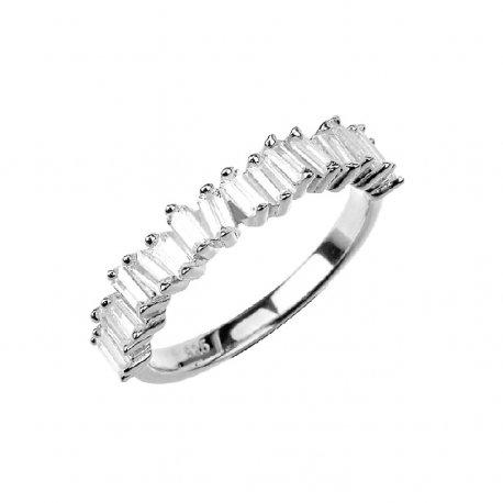 Кольцо женское серебряное 925* родий цирконий Арт 15 7 2739б