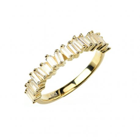 Кольцо женское серебряное 925* позолота цирконий Арт 55 7 2739ж