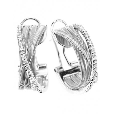 Серьги женские серебряные 925* родий цирконий Арт 11 7 2705б
