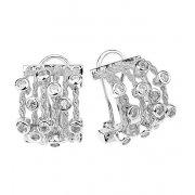 Сережки жіночі срібні 925* родій цирконій Арт 11 7 2149б