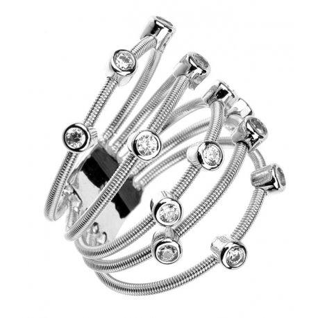 Каблучка жіноча срібна 925* родій цирконій Арт 15 7 2455б