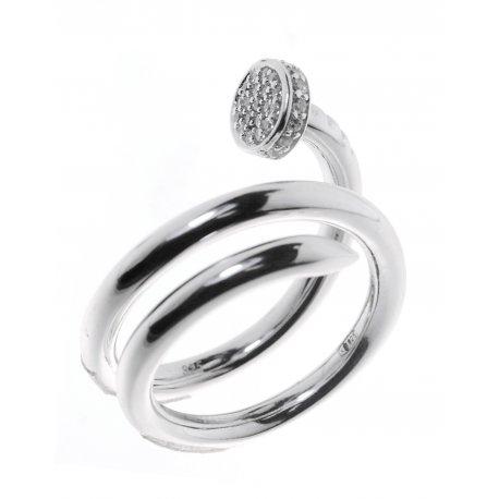Каблучка жіноча срібна 925* родій цирконій Арт 15 7 2550б