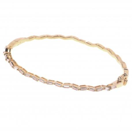 Браслет женский серебряный 925* позолота цирконий Арт 54 7 2645ж