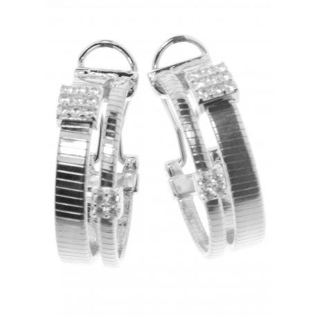 Серьги женские серебряные 925* родий цирконий Арт 11 7 2940б