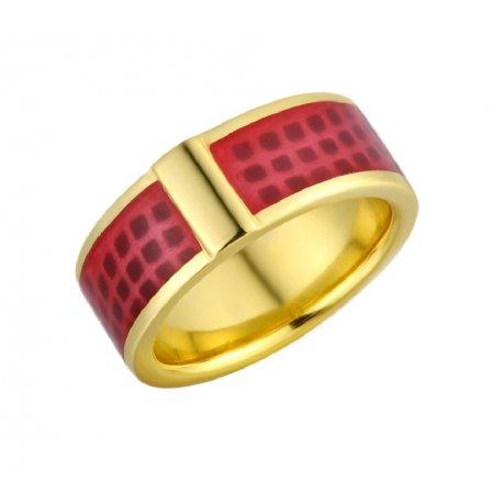 Кольцо женское серебряное 925* позолота эмаль Арт55 8 1875