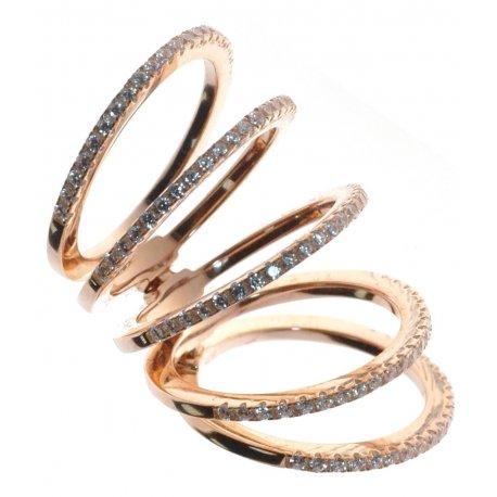 Кольцо женское серебряное 925* позолота цирконий Арт 555 338