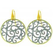 Серьги женские серебряные 925* родий позолота Арт522 4 146