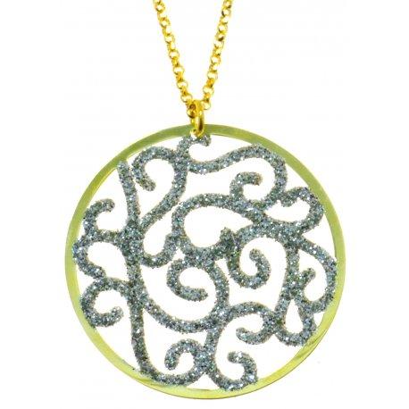 Колье женское серебряное 925* родий позолота Арт520 4 145