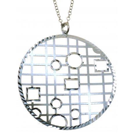 Колье женское серебряное 925* родий Арт 220 4 005