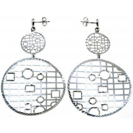 Серьги женские серебряные 925* родий Арт 222 4 006