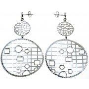 Сережки жіночі срібні 925* родій Арт 222 4 006