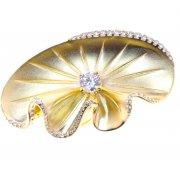 Кольцо женское серебряное 925* позолота цирконий Арт 55 7 2184-1ж