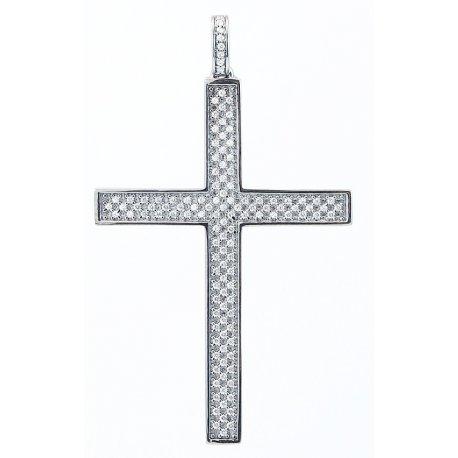 Підвіс жіночий срібний 925* родій цирконій Арт 13 7 0351б