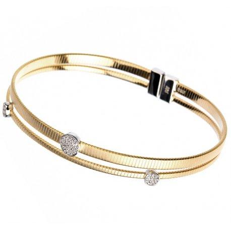 Браслет женский серебряный 925* позолота цирконий Арт 54 7 3402ж