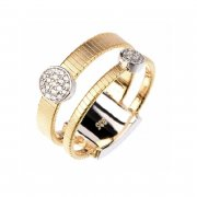 Кольцо женское серебряное 925* позолота цирконий Арт 55 7 3403ж