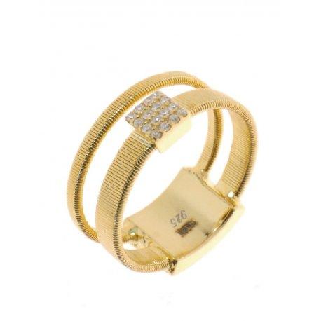 Кольцо женское серебряное 925* позолота цирконий Арт 55 7 2938ж