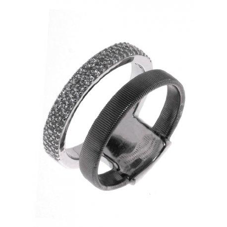 Кольцо женское серебряное 925* чернение цирконий Арт 15 7 3608чб