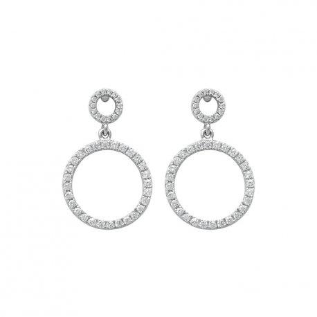 Серьги женские серебряные 925* родий цирконий Арт 115 135
