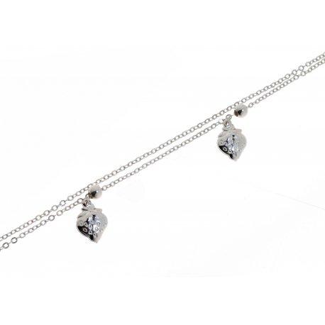 Браслет женский серебряный 925* родий цирконий Арт 145 1 631-18+3