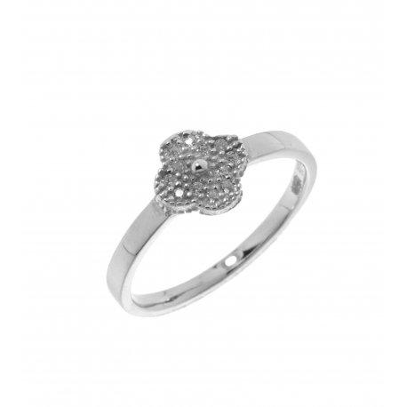 Кольцо женское серебряное 925* родий цирконий Арт 155 1 585