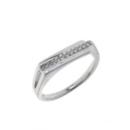 Кольцо женское серебряное 925* родий цирконий Арт 155 1 157