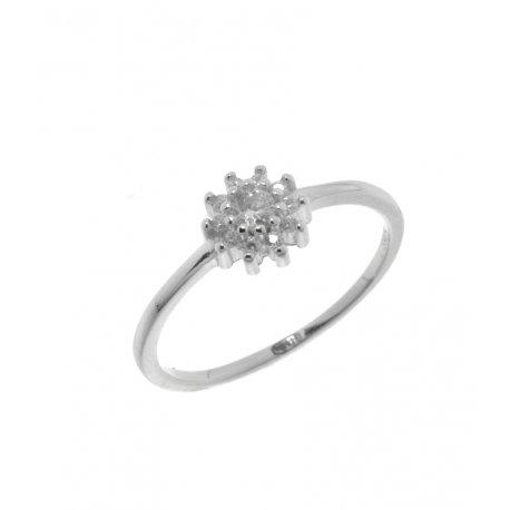 Кольцо женское серебряное 925* родий цирконий Арт 155 1 413