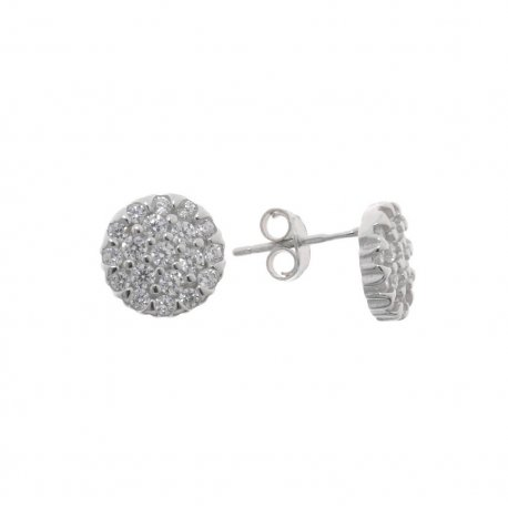 Серьги женские серебряные 925* родий цирконий Арт 115 1 752