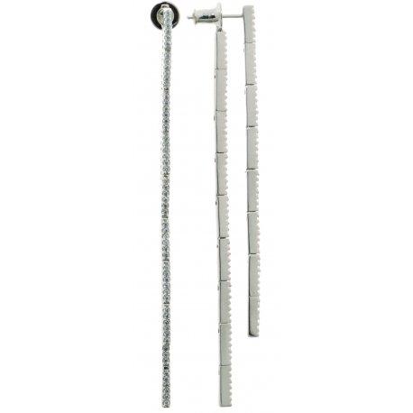 Серьги женские серебряные 925* родий цирконий Арт 11 7 2761-1