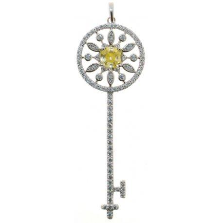 Підвіс жіночий срібний 925* родій цирконій Арт 13 7 2621