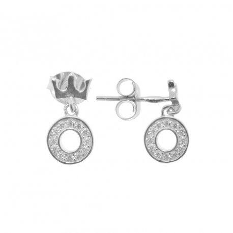 Серьги женские серебряные 925* родий цирконий Арт 115 1 612
