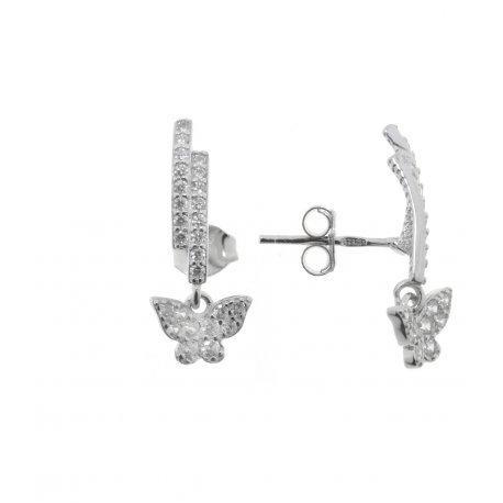 Сережки жіночі срібні 925* родій цирконій Арт 115 1 937