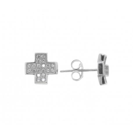 Серьги женские серебряные 925* родий цирконий Арт 115 1 488