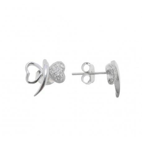 Серьги женские серебряные 925* родий цирконий Арт 115 1 563