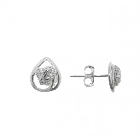 Серьги женские серебряные 925* родий цирконий Арт 115 1 305