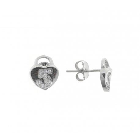 Сережки жіночі срібні 925* родій цирконій Арт 115 1 897