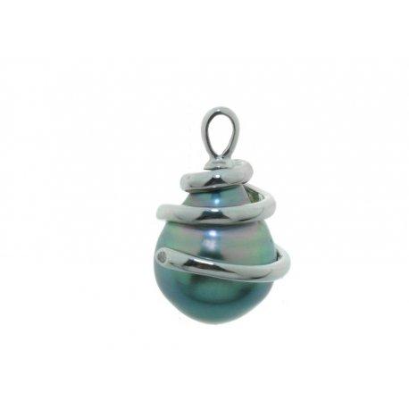 Подвес женский серебряный 925* культивированный жемчуг родий Арт13 6 0347-1