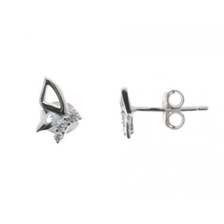 Сережки жіночі срібні 925* родій цирконій Арт 115 1 077