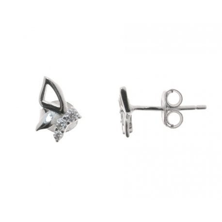 Серьги женские серебряные 925* родий цирконий Арт 115 1 077