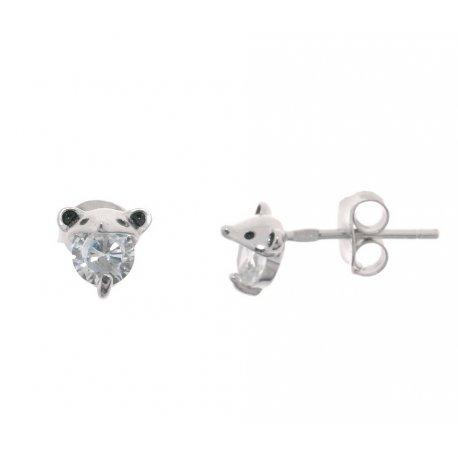 Серьги женские серебряные 925* родий цирконий Арт 115 1 978