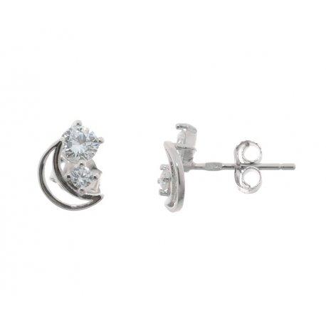 Сережки жіночі срібні 925* родій цирконій Арт 115 1 901