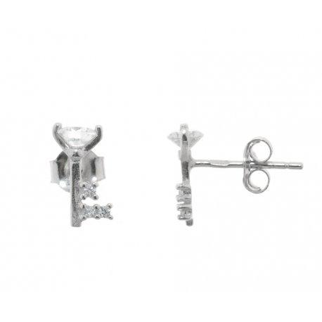 Серьги женские серебряные 925* родий цирконий Арт 115 1 897-1