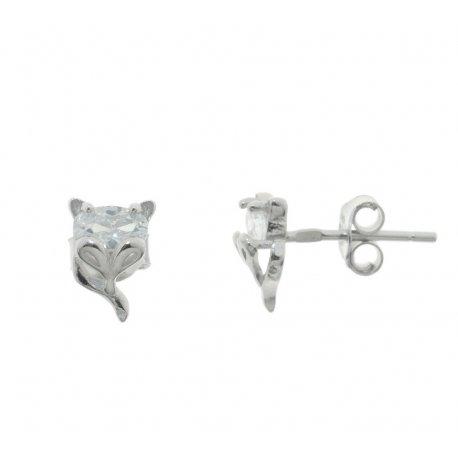 Сережки жіночі срібні 925* родій цирконій Арт 115 1 919