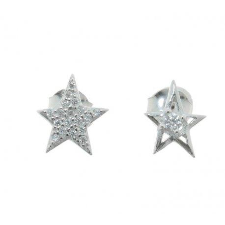 Серьги женские серебряные 925* родий цирконий Арт 115 1 916
